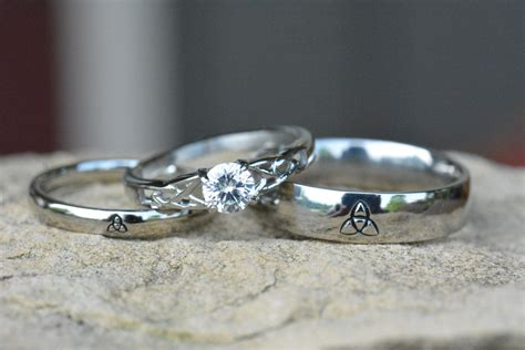 triquetra ring irish wedding rings by lawrencecustoms etsy