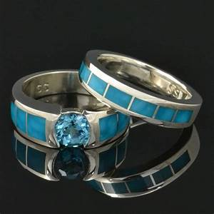 topaz and turquoise wedding ring set With turquoise wedding ring sets