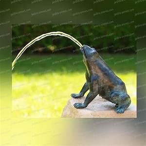 Fontaine Solaire Pour Bassin : grenouille cracheur 5363 sculpture en bronze sujet ~ Dailycaller-alerts.com Idées de Décoration