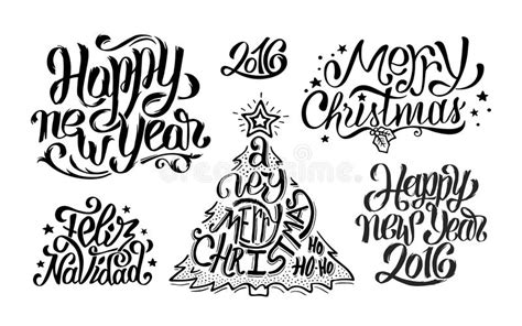 merry christmas and happy new year typography stock vector image 63512822