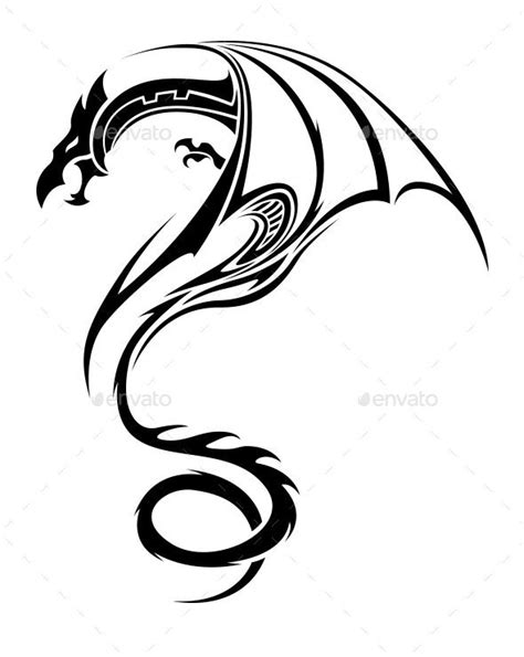 tribal dragon tattoo  eaven  wonderful dragon tribal