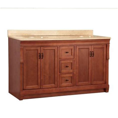 foremost naples 61 in w x 22 in d double sink vanity in