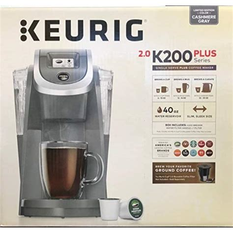 Are you looking for a single cup coffee maker that'll give you what you need, and without pods? keurig k200 single serve k-cup pod coffee maker - - cashmere gray - limited edition - Walmart ...