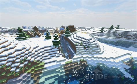 minecraft mansion seed biome snowy seeds plains ice