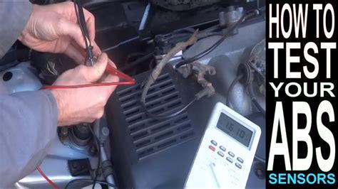 abs light    test abs sensor  multimeter car