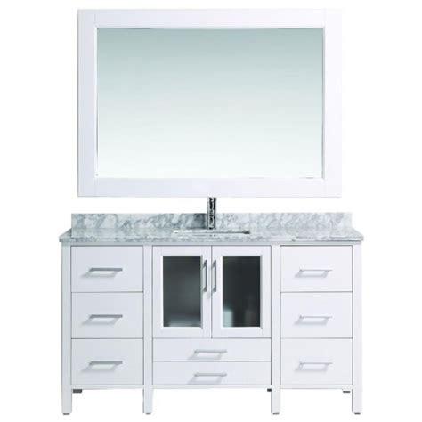 60 inch vanity top single sink design element b60 ds w stanton 60 inch single sink vanity