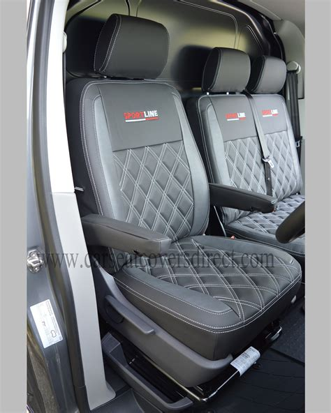 volkswagen vw transporter  seat covers charcoal