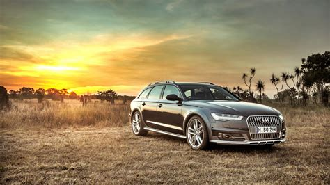 Hd Background Audi A6 Allroad Side View Sunset Hdr Car