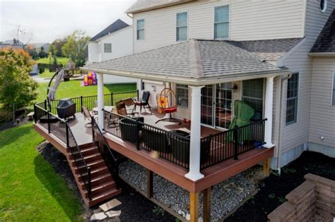decking roof ideas hip roof and azek deck refurbish deck and patio ideas pinterest decking roof deck and