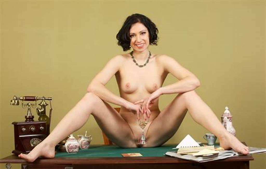 #Short #Haired #Brunette #With #Shaved #Pussy #In #Vintage #Session