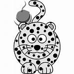 Leopard Snow Cartoon Icon Clip Arts