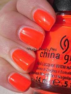 1000 images about Neon Bright Orange Nail Polish on