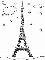 Eiffel Tower Coloring Printable Monuments Cool2bkids Colouring Towers Building Drawing Drawings 900px 32kb sketch template