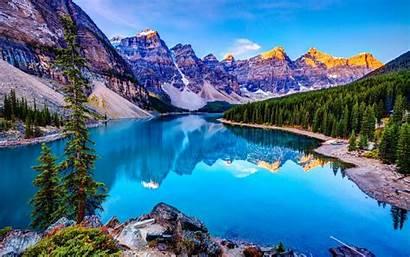 Landscape Desktop Nature Wallpapers Lake Mountains Wallpapersafari