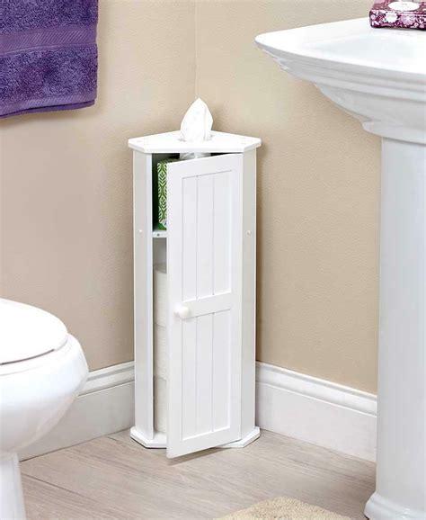 Corner Bathroom Storage Cabinets by White Bathroom Corner Cabinet Toilet Paper Roll Kleenex
