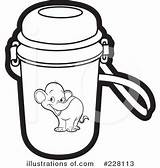 Clipart Thermos Bottle Lineartestpilot sketch template