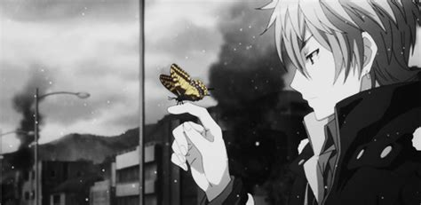 anime boy waiting beautiful anime gif