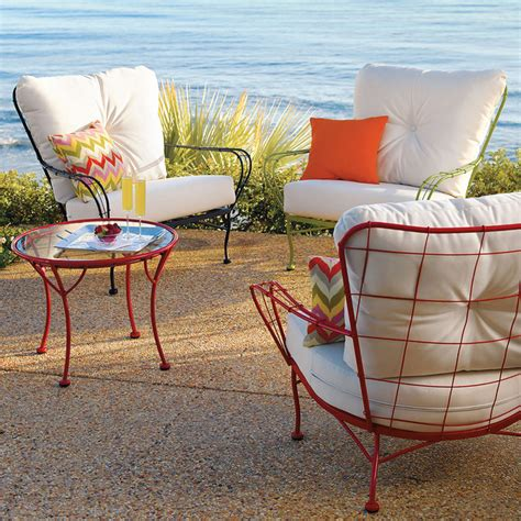 hudson metal chair with white cushion contemporary