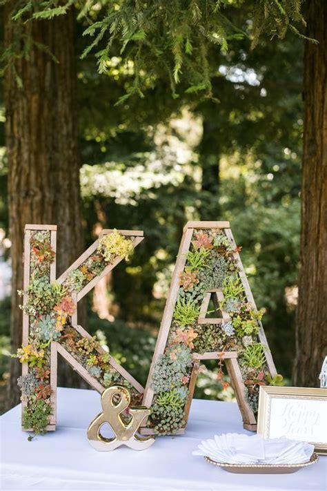 40 Wedding Initials & Letters Decor Ideas Deco fleur