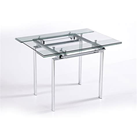 table de cuisine en verre avec rallonge table de cuisine en verre table à manger design extensible