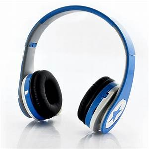 Casque Audio Long Fil : casque sans fil pliable lecteur mp3 radio fm bleu casque ~ Edinachiropracticcenter.com Idées de Décoration