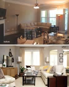 In Livingroom Before And After Vinings Living Room