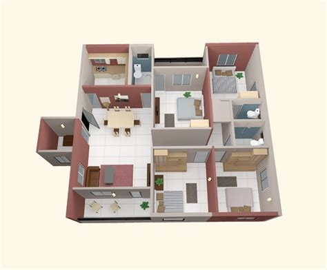 4 Bedroom Apartmenthouse Plans