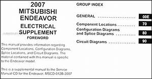 2007 Mitsubishi Endeavor Wiring Diagram Manual Original
