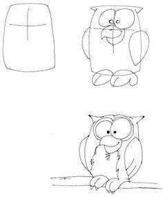 eule malen einfach comictiere zeichnen lernen eule zeichnen mit kindern comic tiere comic zeichnen lernen und