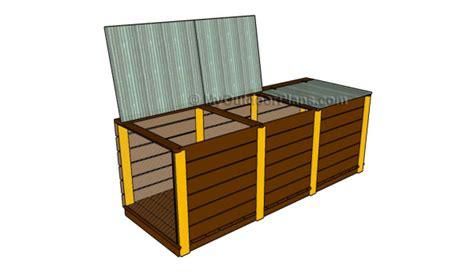 bin compost plans myoutdoorplans  woodworking