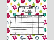 Mano dibujado horario escolar Descargar Vectores gratis