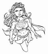 Coloring Pages Supergirl Kara Zor El sketch template