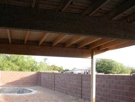 how to put a roof a concrete patio ehow