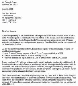 Lpn cover letter examples printable job application for Sample cover letter for lpn position
