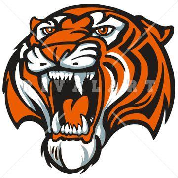 tiger paw clip art tigers mascot  color  products