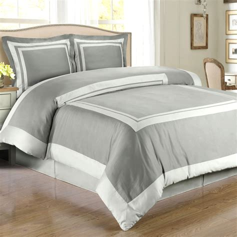 blue gray comforter gloomy but brightly grey and white bedding in bedroom