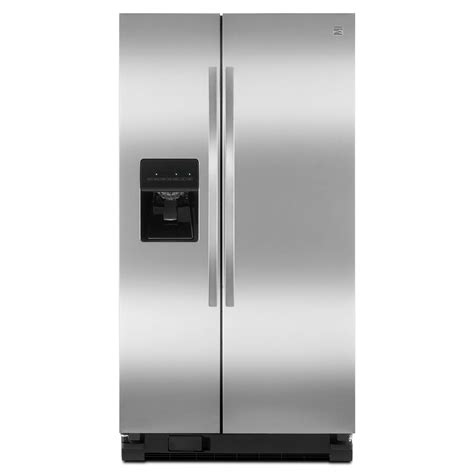Kitchen Counter Storage Ideas - kenmore 50023 25 cu ft side by side refrigerator stainless steel