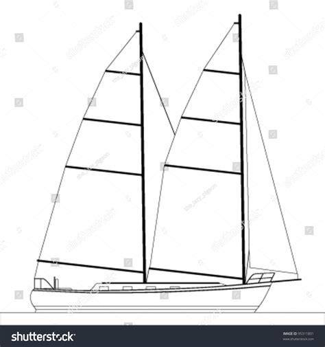 Sailboat Outline Vector Free by Sailboat Outline Illustration 95311801 Shutterstock