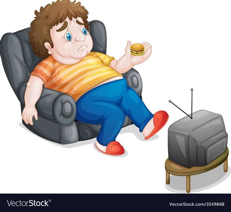 Couch Potato Royalty Free Vector Image Vectorstock