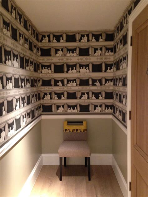 cole son teatro wallpaper  ham yard hotel cloakroom