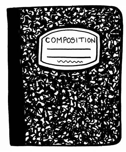 Notebook Clipart Clip Transparent Paper Composition Open