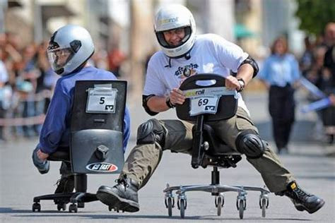 Office Chairs Racing Championship In Germany