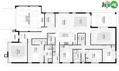 bedroom bungalow house plans  nigeria jijing blog