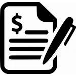 Icon Svg Contract Business Agreement Signature Deal