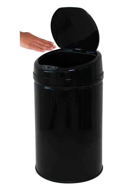 abfalleimer 30 liter edelstahl abfalleimer echtwerk 187 inox black 171 mit infrarotsensor 30 liter kaufen otto