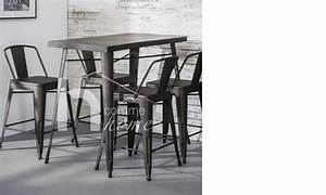 Table Haute Industrielle : table bar industrielle en acier bistrot ~ Melissatoandfro.com Idées de Décoration