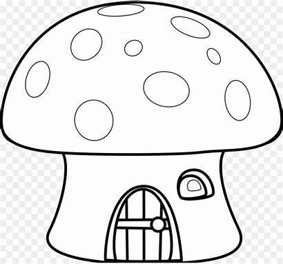 Mushroom Clip Clipart Coloring Feltro Molde Cogumelo