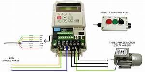Single Stage Inverters - 220v To 220v 3 Phase   U00bd  U0026 1 Hp Wiring Diagram