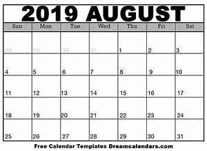 Calender August Printable Blank August 2019 Calendar On We Heart It
