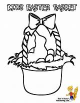 Easter Coloring Basket Pages Baskets Bunny Egg Colouring Boys Yescoloring Handsome sketch template